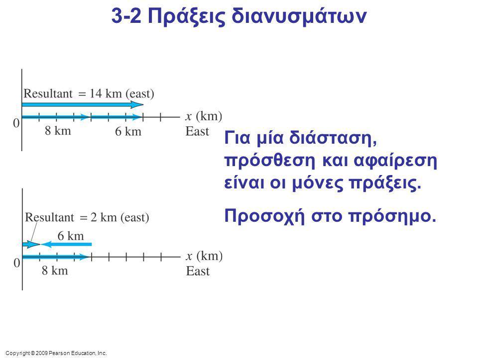 Copyright © 2009 Pearson Education, Inc.Για 2 και 3 διαστάσεις το πρόβλημα γίνεται πιο σύνθετο.