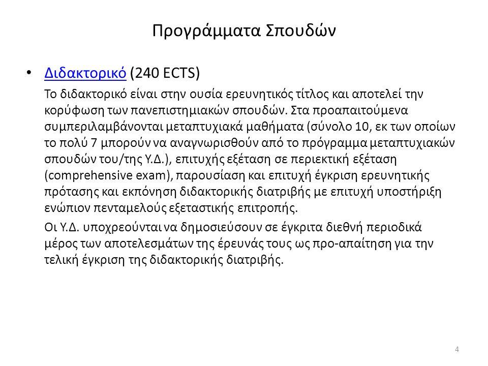 Απαιτήσεις αποφοιτήσεων: