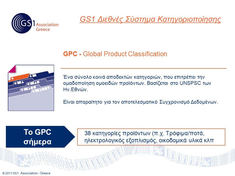 © 2011 GS1 Association - Greece Ένα σύνολο κοινά αποδεκτών κατηγοριών, που επιτρέπει την ομαδοποίηση ομοειδών προϊόντων.