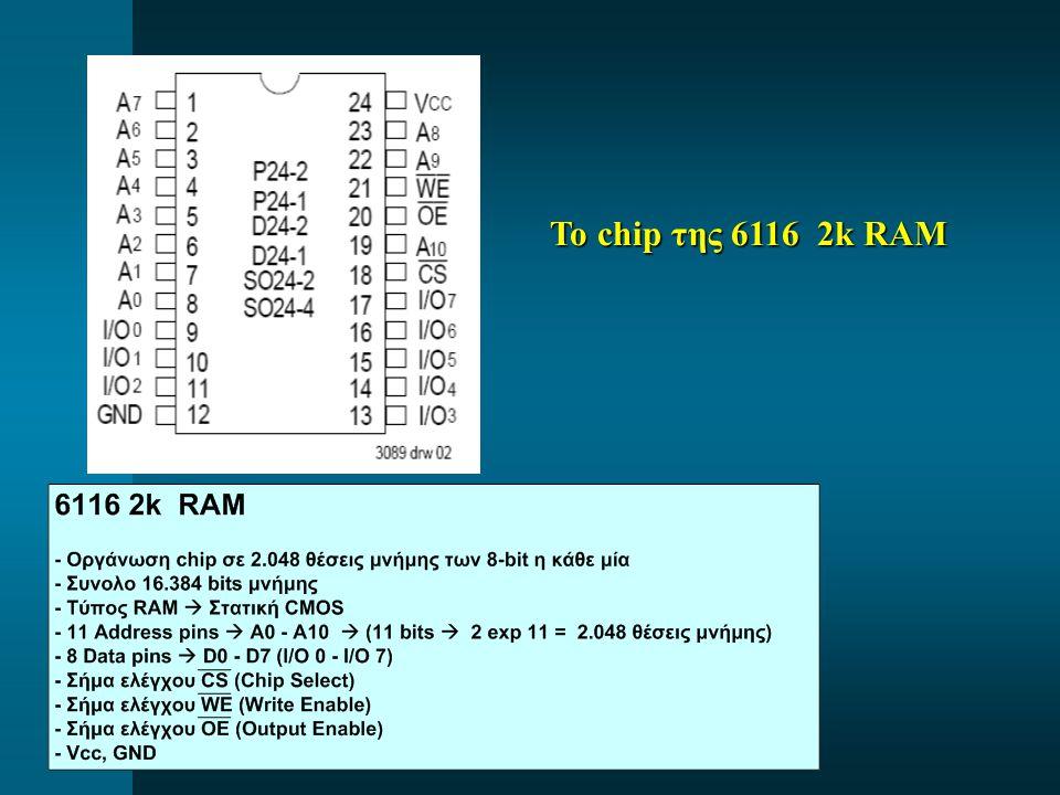 Το chip της 6116 2k RAM Το chip της 6116 2k RAM