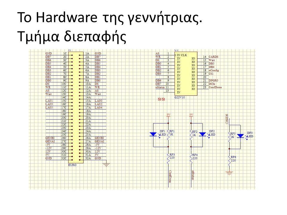 To Hardware της γεννήτριας. Τμήμα διεπαφής