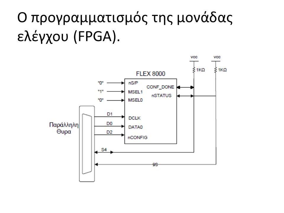 Ο προγραμματισμός της μονάδας ελέγχου (FPGA).