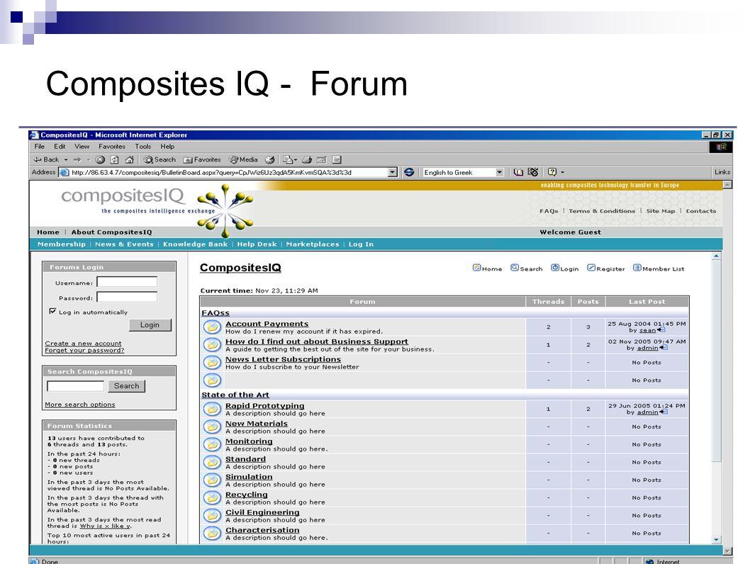 Composites IQ - Forum