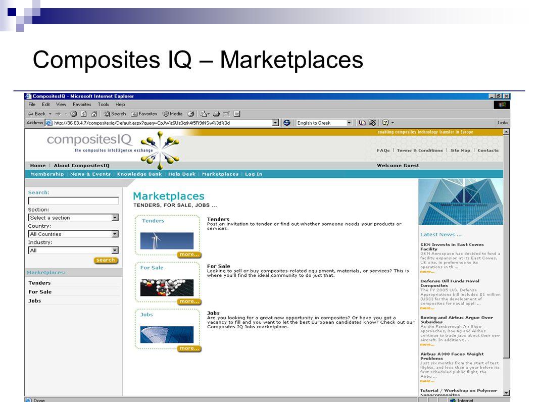 Composites IQ – Marketplaces