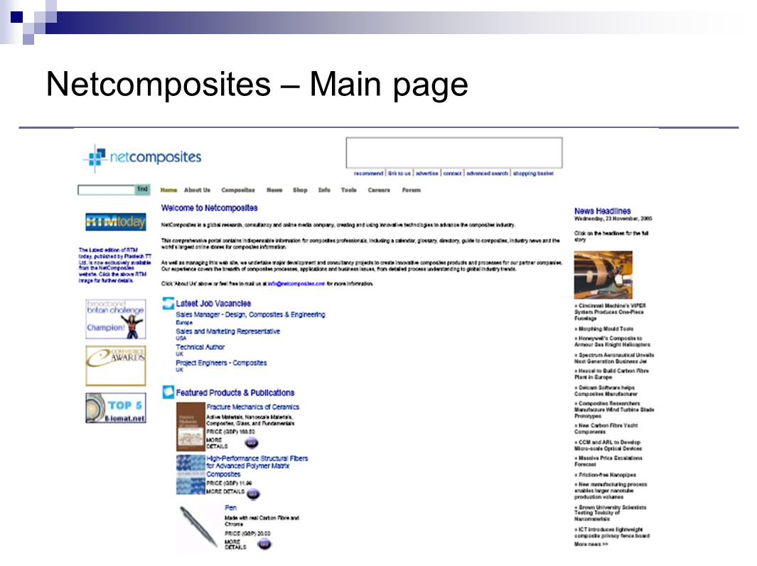 Netcomposites – Main page