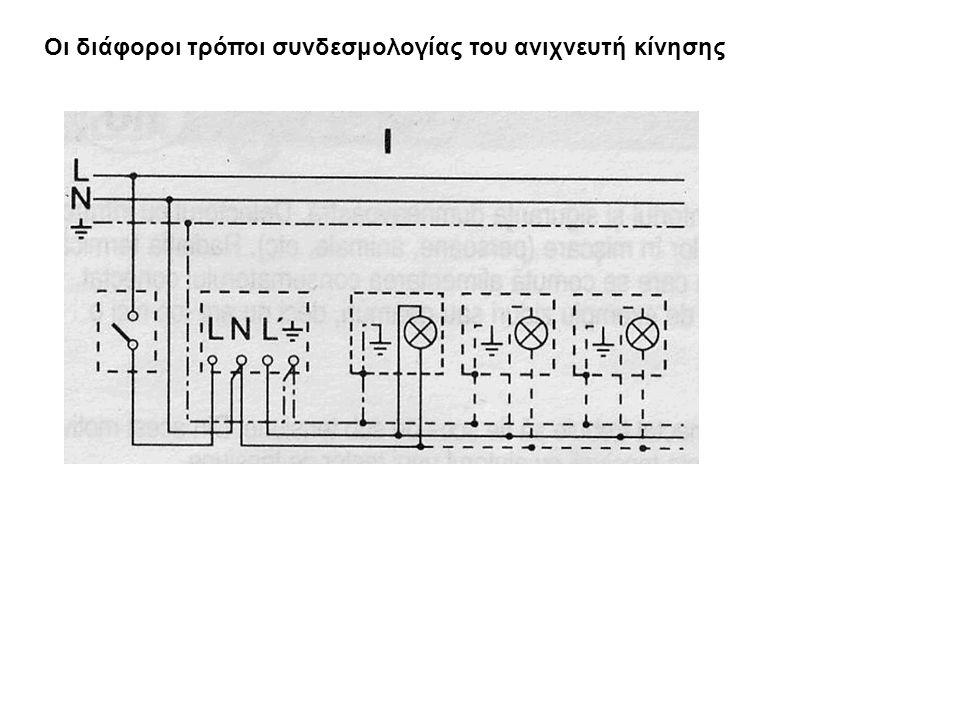 Οι διάφοροι τρόποι συνδεσμολογίας του ανιχνευτή κίνησης