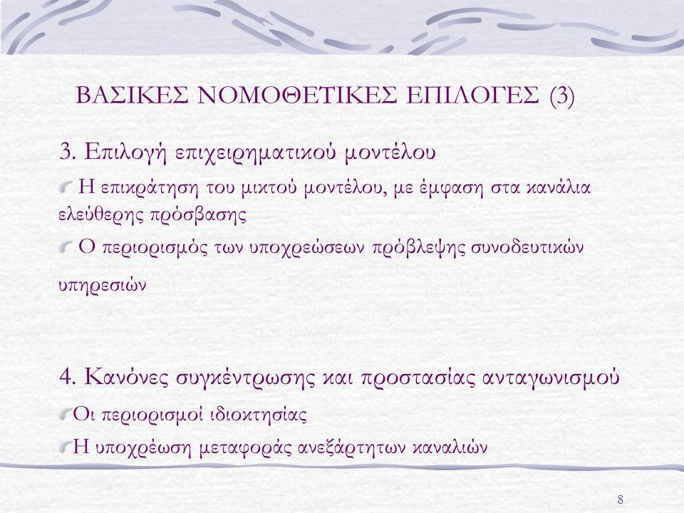 8 ΒΑΣΙΚΕΣ ΝΟΜΟΘΕΤΙΚΕΣ ΕΠΙΛΟΓΕΣ (3) 3.