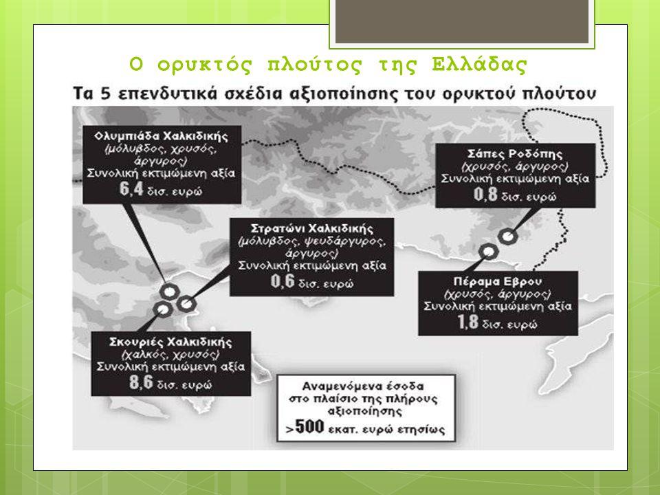 Ο ορυκτός πλούτος της Ελλάδας