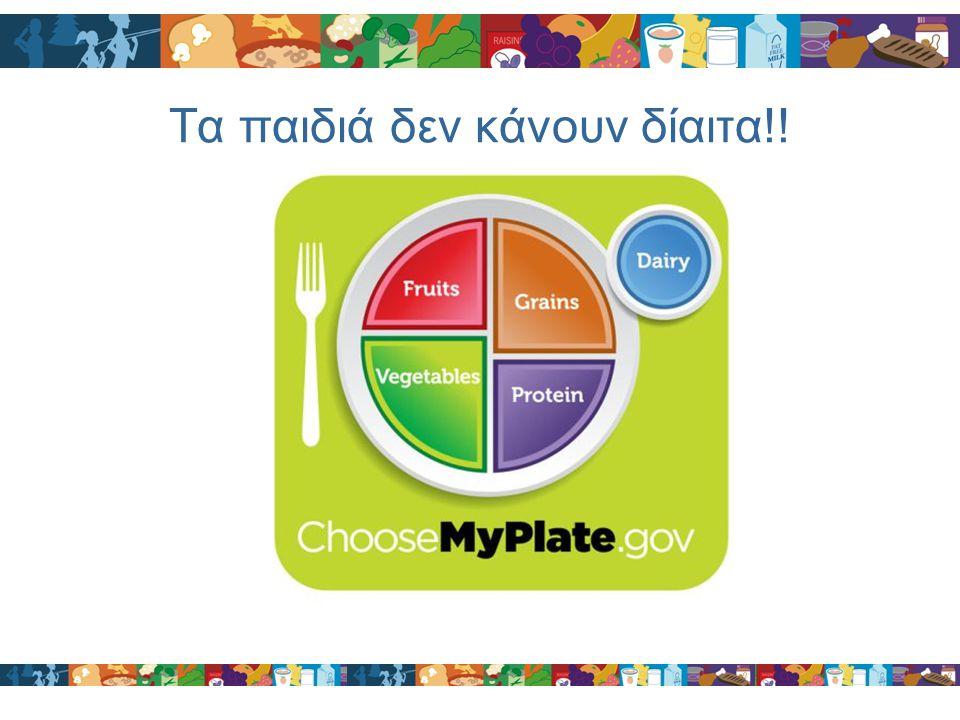 Τα παιδιά δεν κάνουν δίαιτα!!