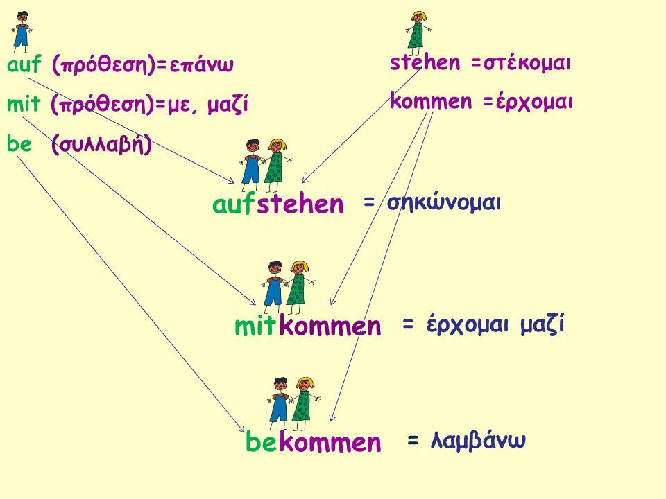 Trennbare Verben und untrennbare Verben mit Modalverben Übung Ergänzen Sie die Verben 2.