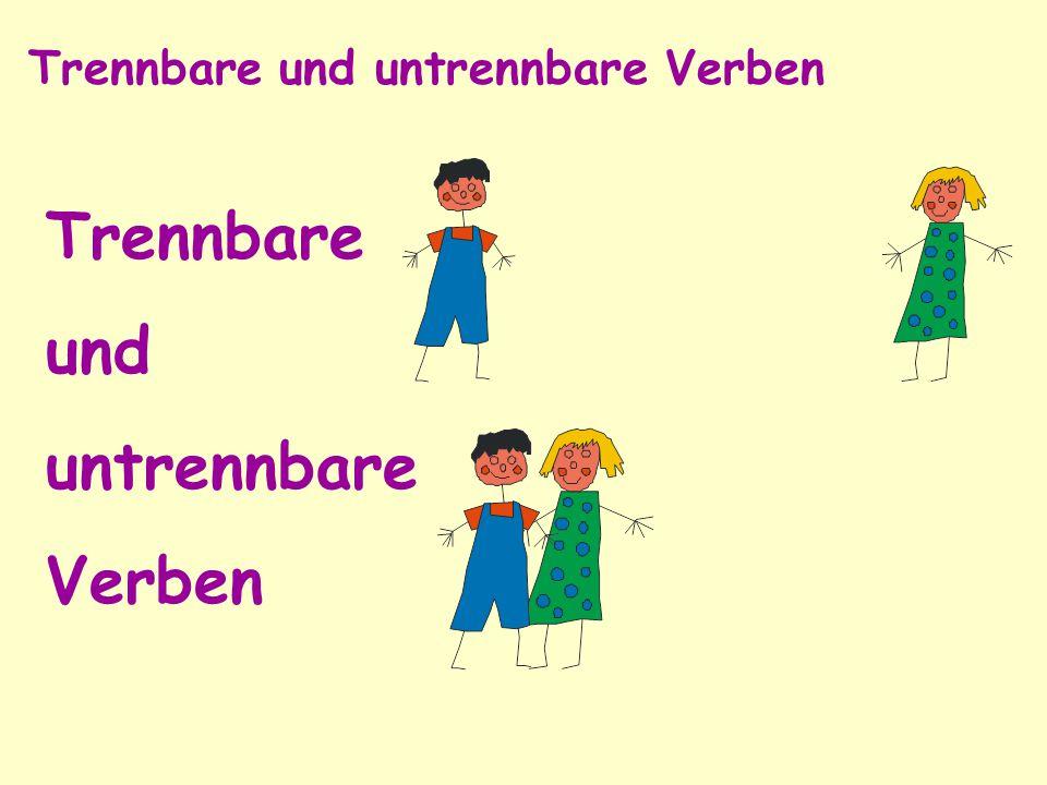 Trennbare Verben σύνθετα χωριζόμενα ρήματα 1.