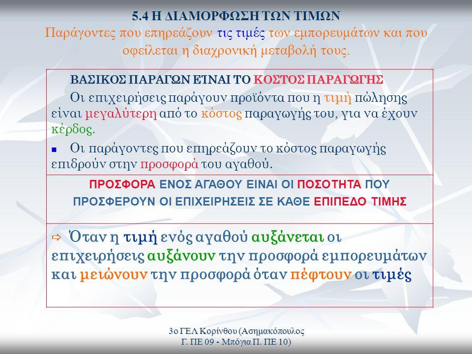 3ο ΓΕΛ Κορίνθου (Ασημακόπουλος Γ. ΠΕ 09 - Μπόγια Π.