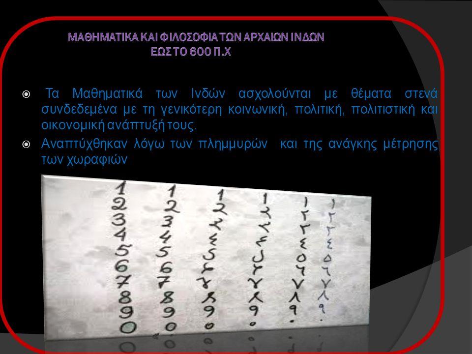 Εικόνες  Τα αριθμητικά σύμβολα. Στην θέση του μηδενός δεν τοποθετούσαν ξυλάκι.