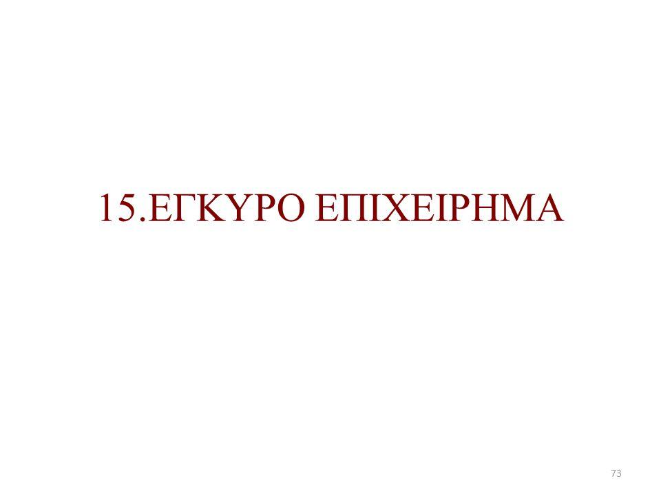 15.ΕΓΚΥΡΟ ΕΠΙΧΕΙΡΗΜΑ 73