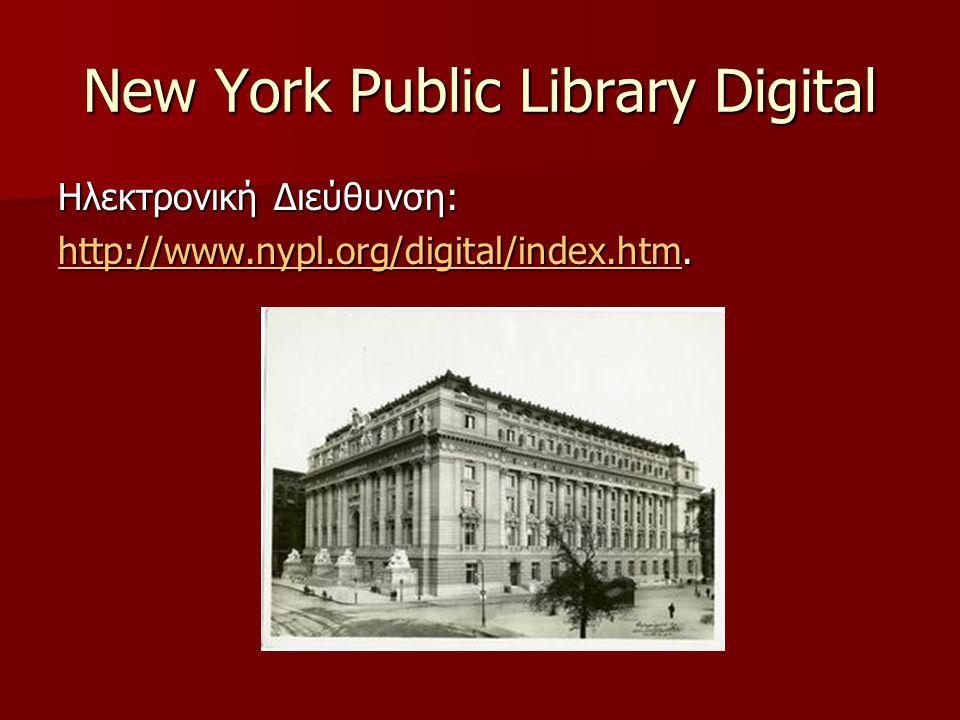 Τι είναι «Ψηφιακή Βιβλιοθήκη»;  Μια συλλογή πληροφοριών σε ψηφιακή μορφή (IFLA).