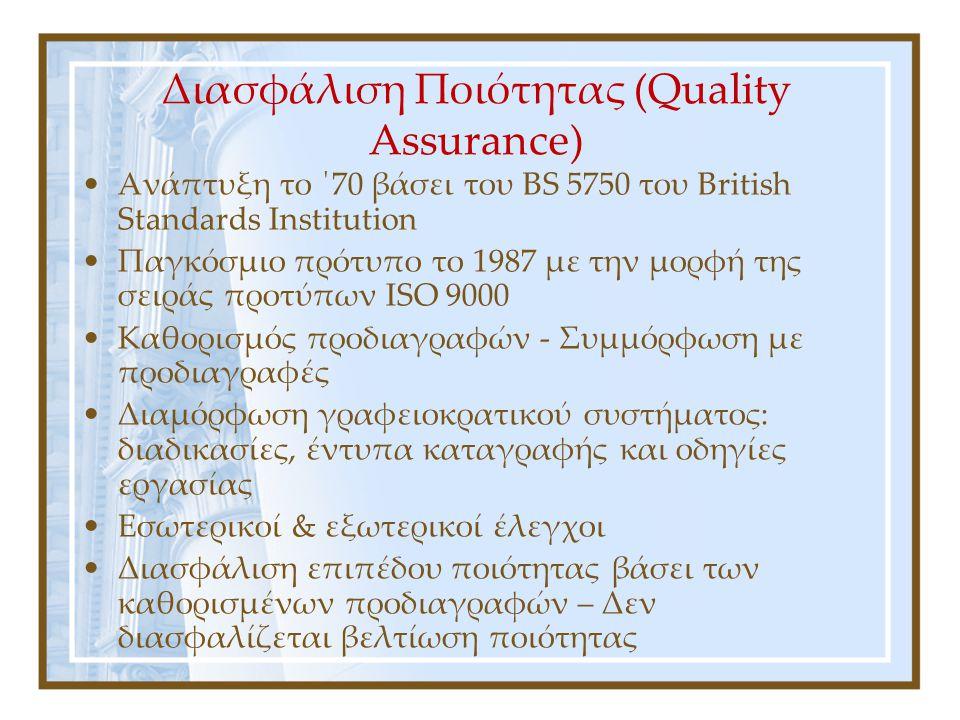 Διαχείριση Ολικής Ποιότητας vs.