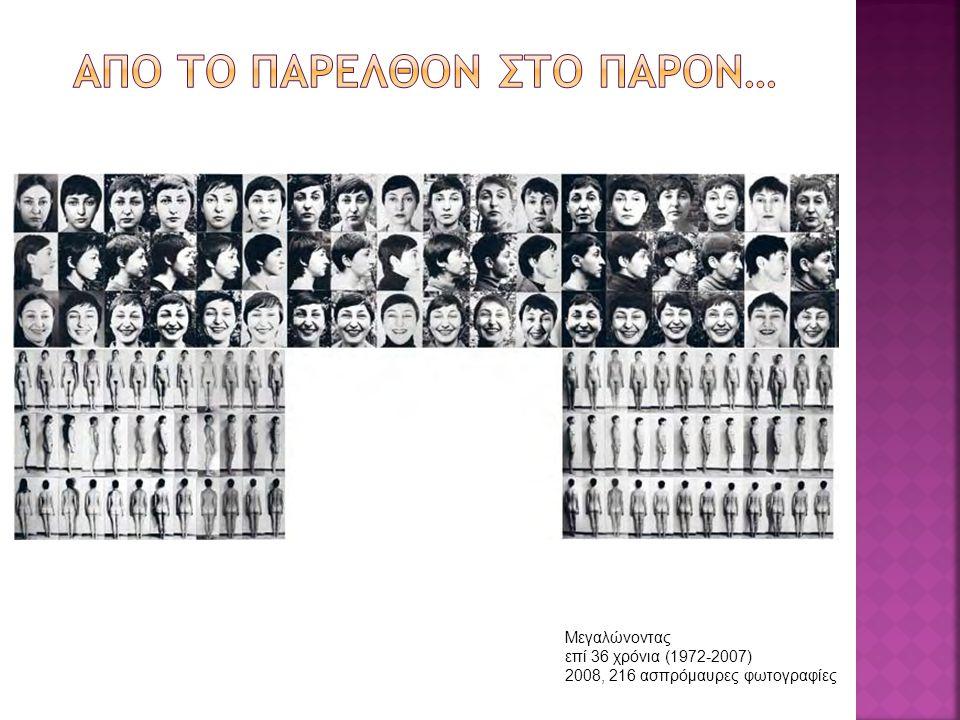 Μεγαλώνοντας επί 36 χρόνια (1972-2007) 2008, 216 ασπρόμαυρες φωτογραφίες