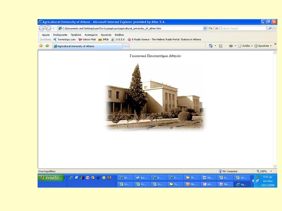Η περιήγηση στο WEB  Προγράμματα –φυλλομετρητές:  Netscape Communicator (Navigator).