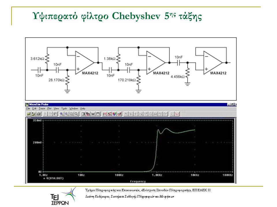 Υψιπερατό φίλτρο Chebyshev 5 ης τάξης