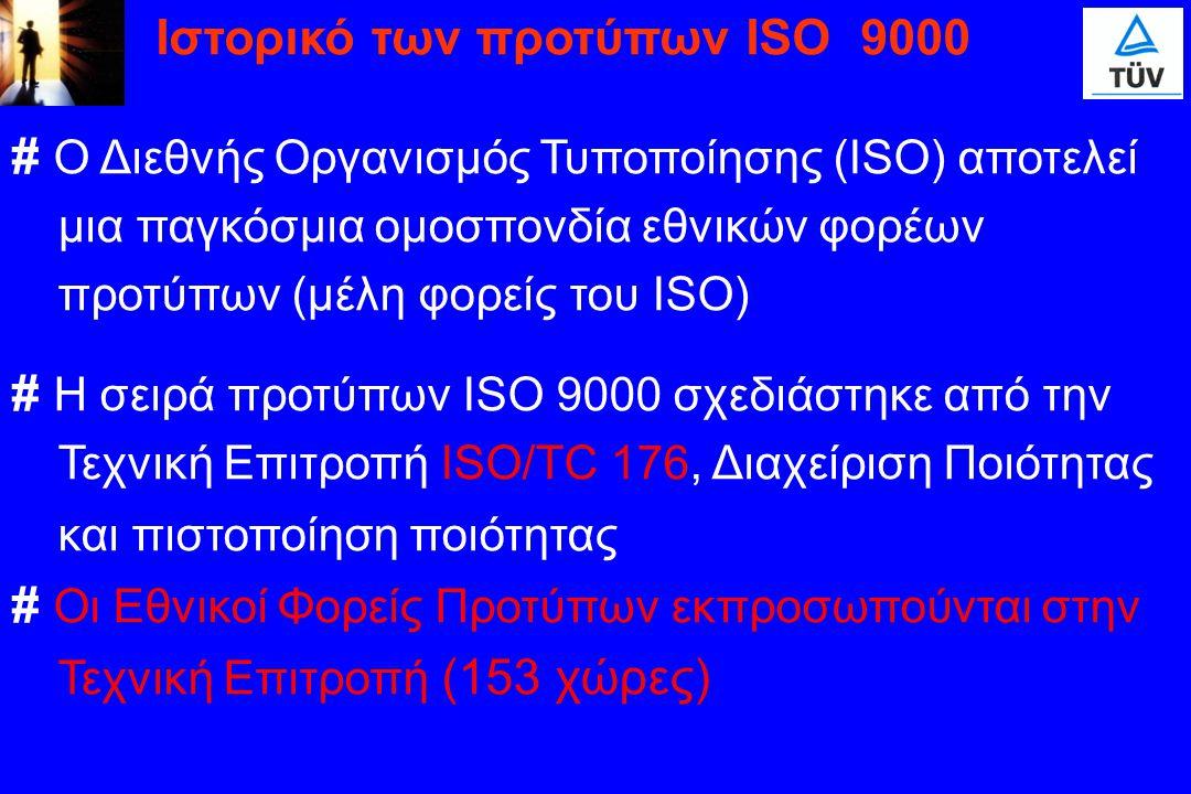 # Ο Διεθνής Οργανισμός Τυποποίησης (ISO) αποτελεί μια παγκόσμια ομοσπονδία εθνικών φορέων προτύπων (μέλη φορείς του ISO) # Η σειρά προτύπων ISO 9000 σ
