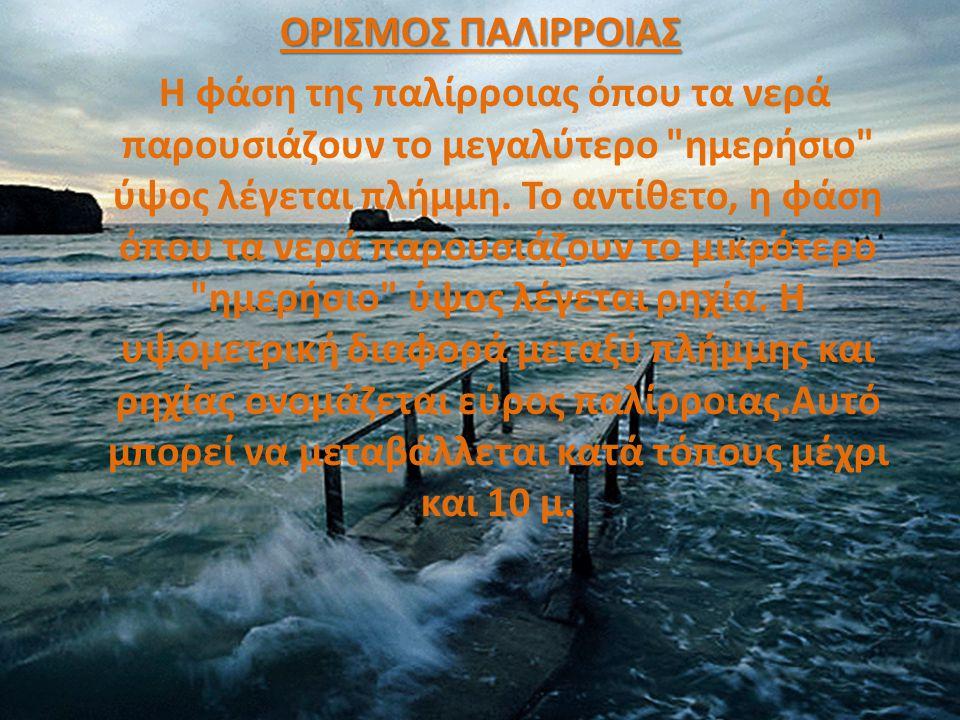 Παλίρροια και στην κοινή ναυτική γλώσσα μαρέα, ονομάζεται το φυσικό φαινόμενο της περιοδικής ανόδου και καθόδου της στάθμης του νερού μίας μεγάλης λίμνης και κυρίως των θαλασσών.