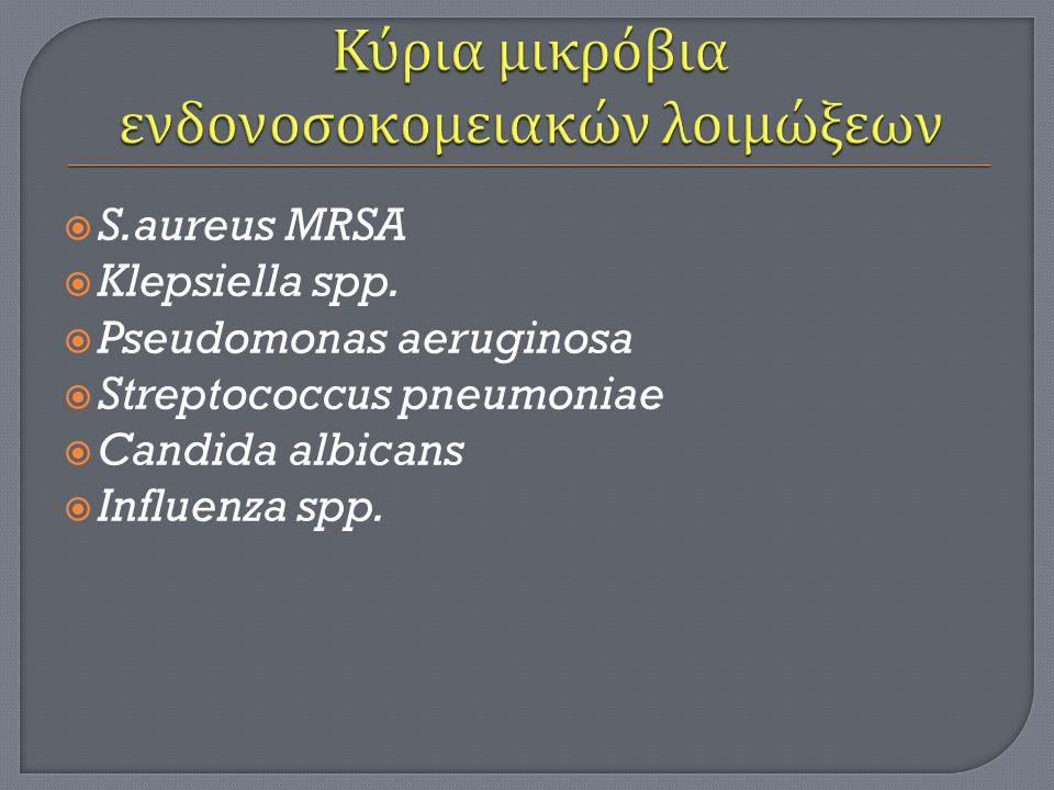  S.aureus MRSA  Klepsiella spp.