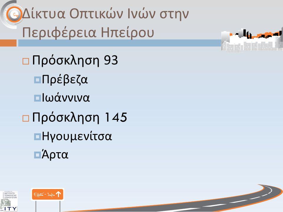 Ασύρματα Ευρυζωνικά Δίκτυα στην Περιφέρεια Ηπείρου  Πρέβεζα  Ζάλογγο  Θεσπρωτικό  Ιωάννινα  Κόνιτσα  Παμβώτιδα  ΤΕΔΚ Ν.
