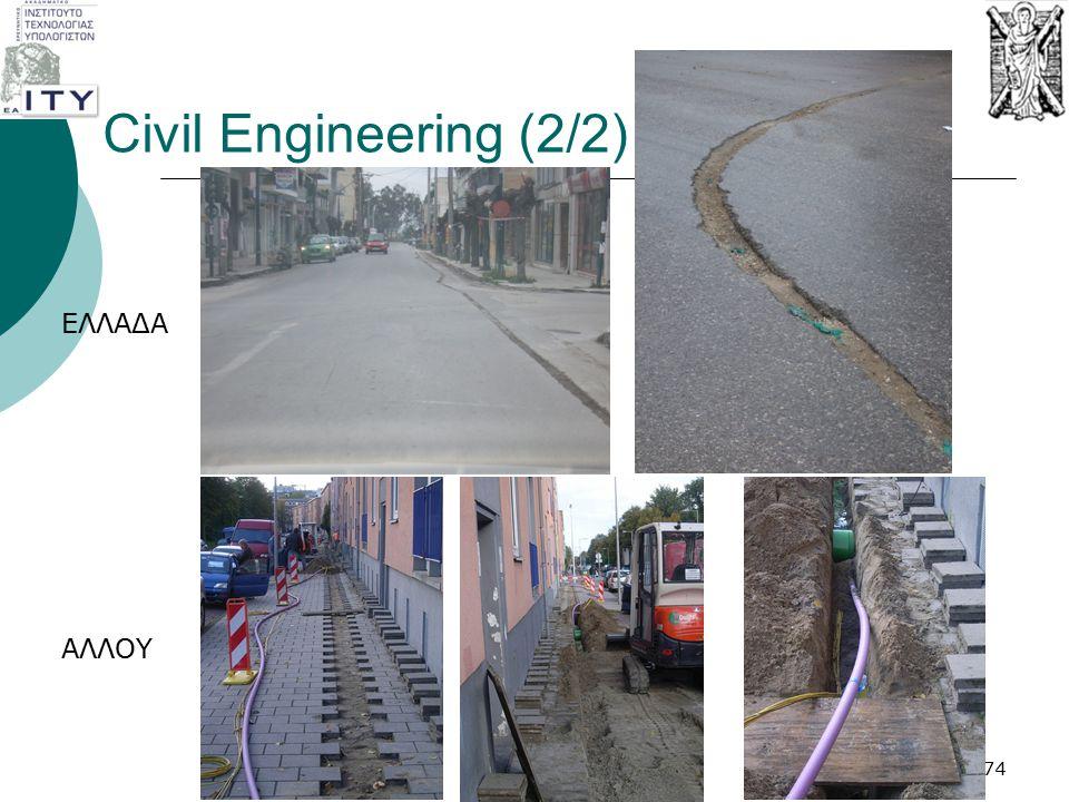 Civil Engineering (2/2) 74 ΕΛΛΑΔΑ ΑΛΛΟΥ