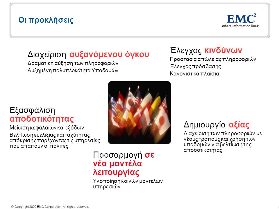 3 © Copyright 2009 EMC Corporation. All rights reserved.
