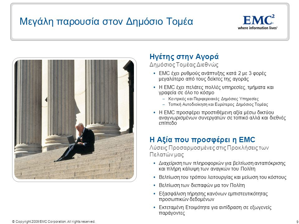 20 © Copyright 2009 EMC Corporation.All rights reserved.