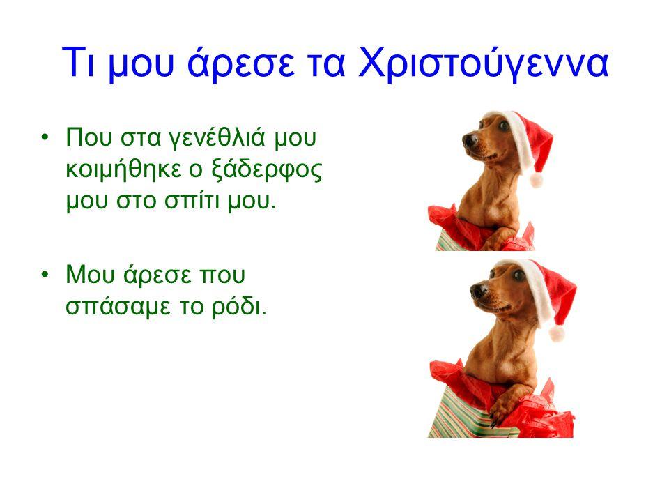 Τι δεν μας άρεσε τα Χριστούγεννα Δεν μου άρεσε που ο σκύλος μας έφαγε την γαλοπούλα.