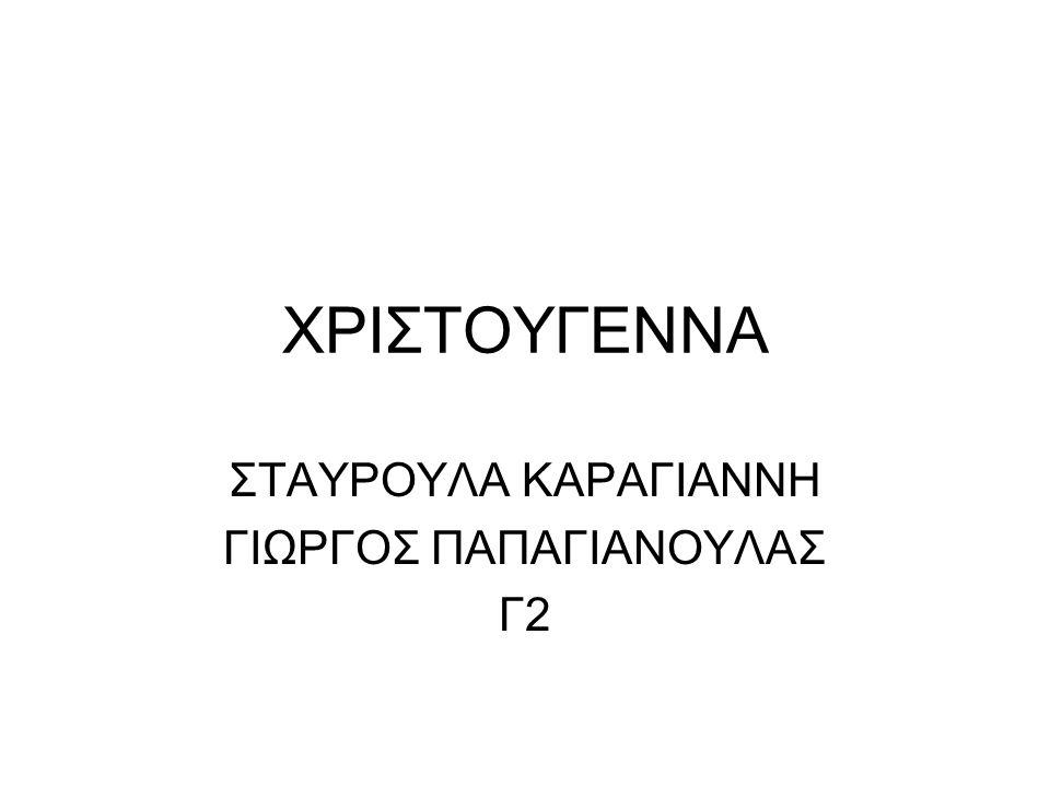 ΧΡΙΣΤΟΥΓΕΝΝΑ ΣΤΑΥΡΟΥΛΑ ΚΑΡΑΓΙΑΝΝΗ ΓΙΩΡΓΟΣ ΠΑΠΑΓΙΑΝΟΥΛΑΣ Γ2