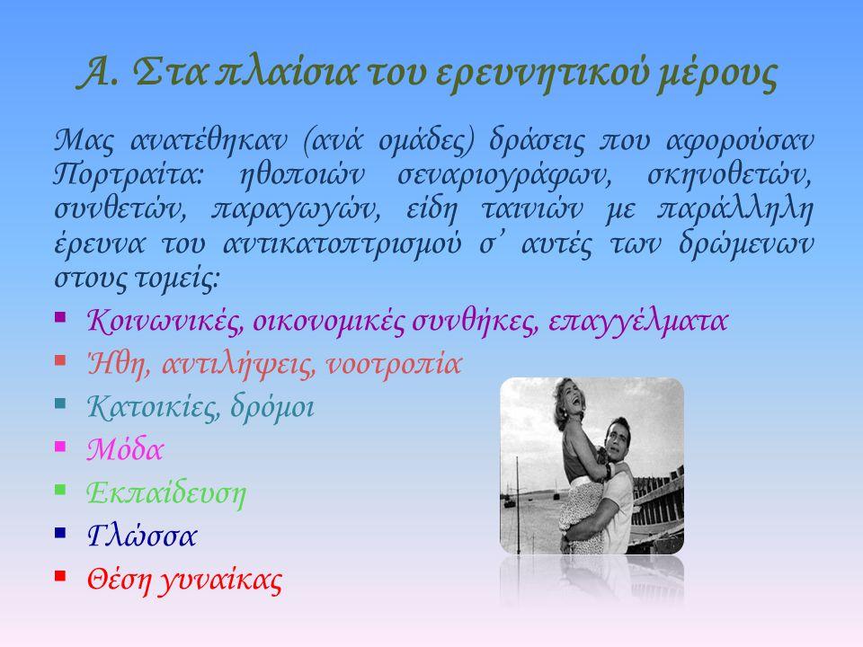 Συμπεράσματα Γνωρίσαμε τα «ιερά τέρατα» του ελληνικού κινηματογράφου.