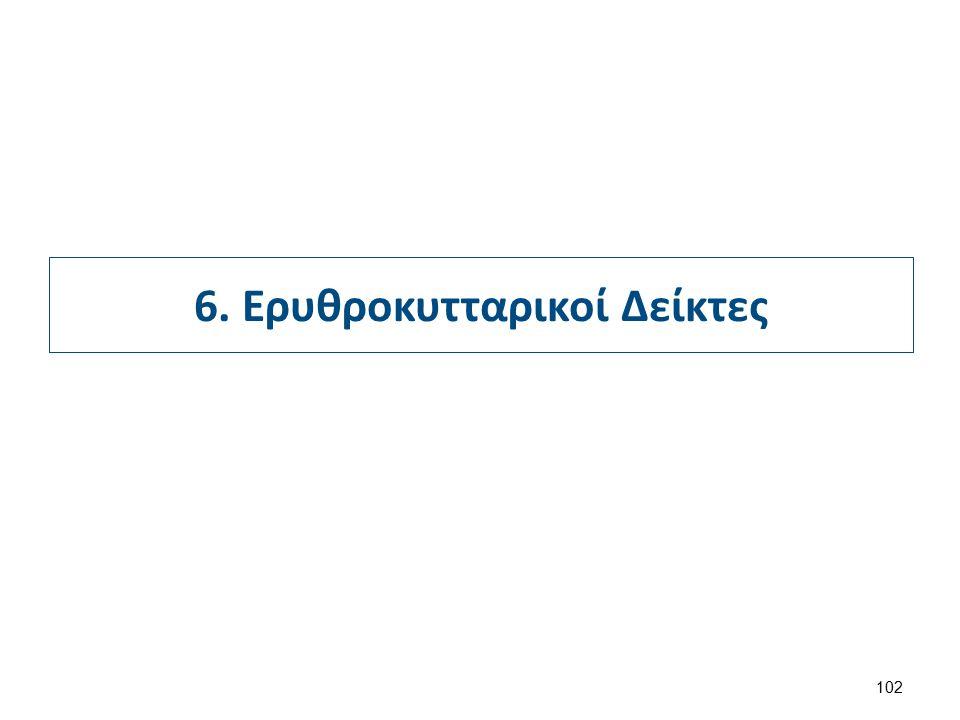 6. Ερυθροκυτταρικοί Δείκτες 102