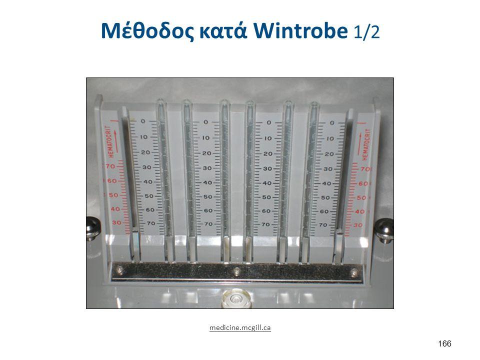 Μέθοδος κατά Wintrobe 1/2 166 medicine.mcgill.ca
