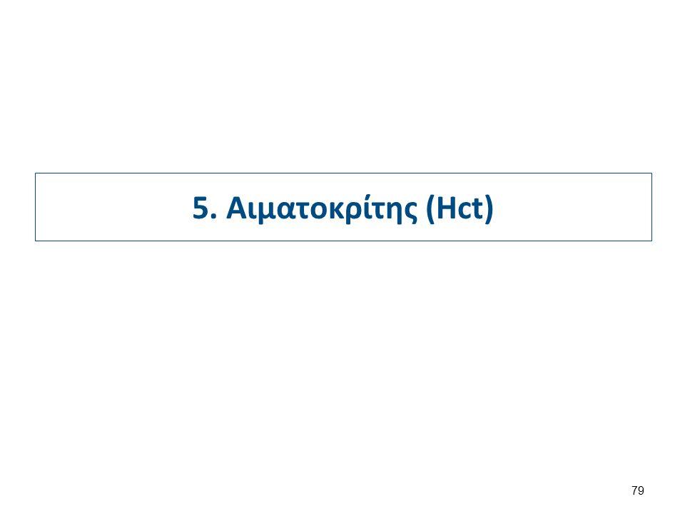 5. Αιματοκρίτης (Hct) 79