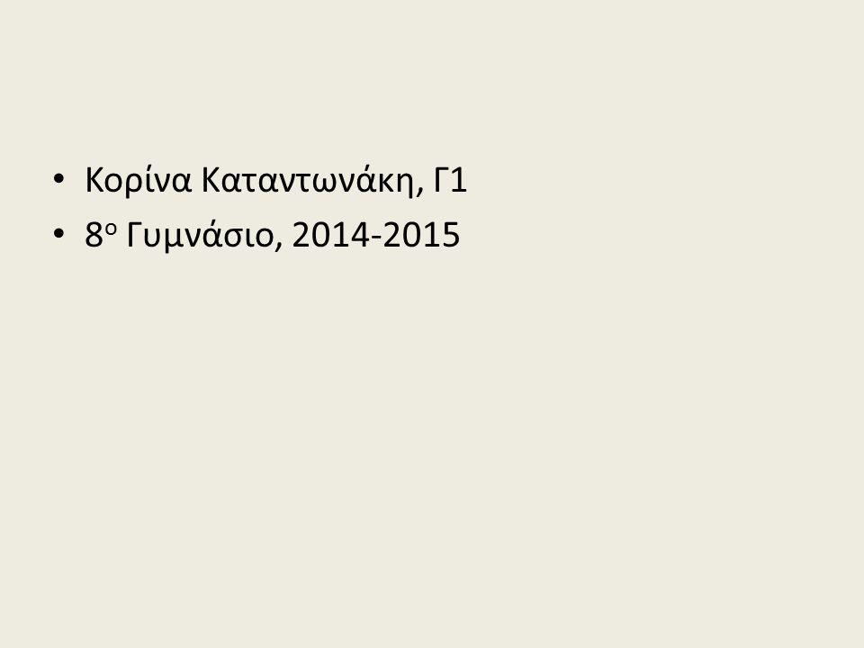 Κορίνα Καταντωνάκη, Γ1 8 ο Γυμνάσιο, 2014-2015