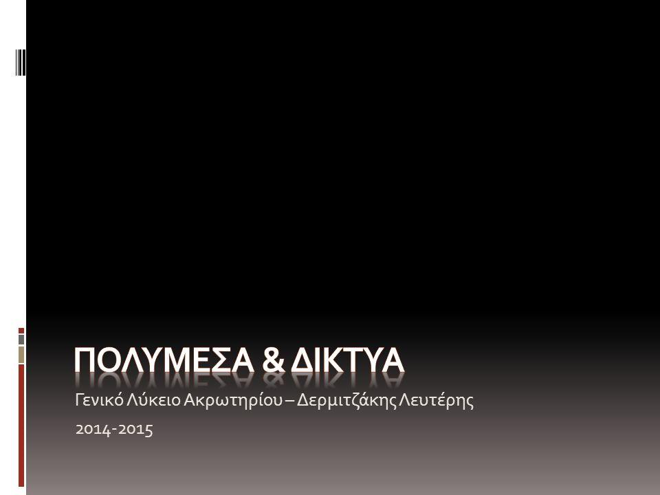Γενικό Λύκειο Ακρωτηρίου – Δερμιτζάκης Λευτέρης 2014-2015