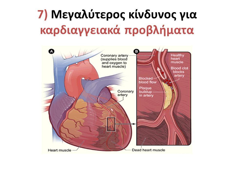 7) Μεγαλύτερος κίνδυνος για καρδιαγγειακά προβλήματα