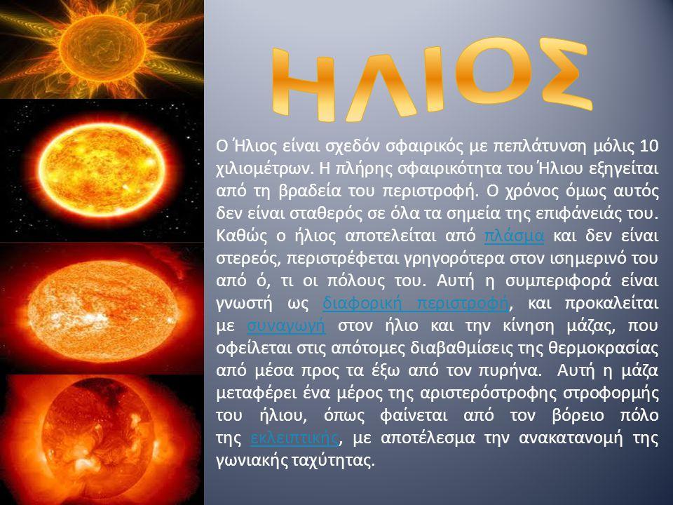 Ο Ήλιος είναι σχεδόν σφαιρικός με πεπλάτυνση μόλις 10 χιλιομέτρων.