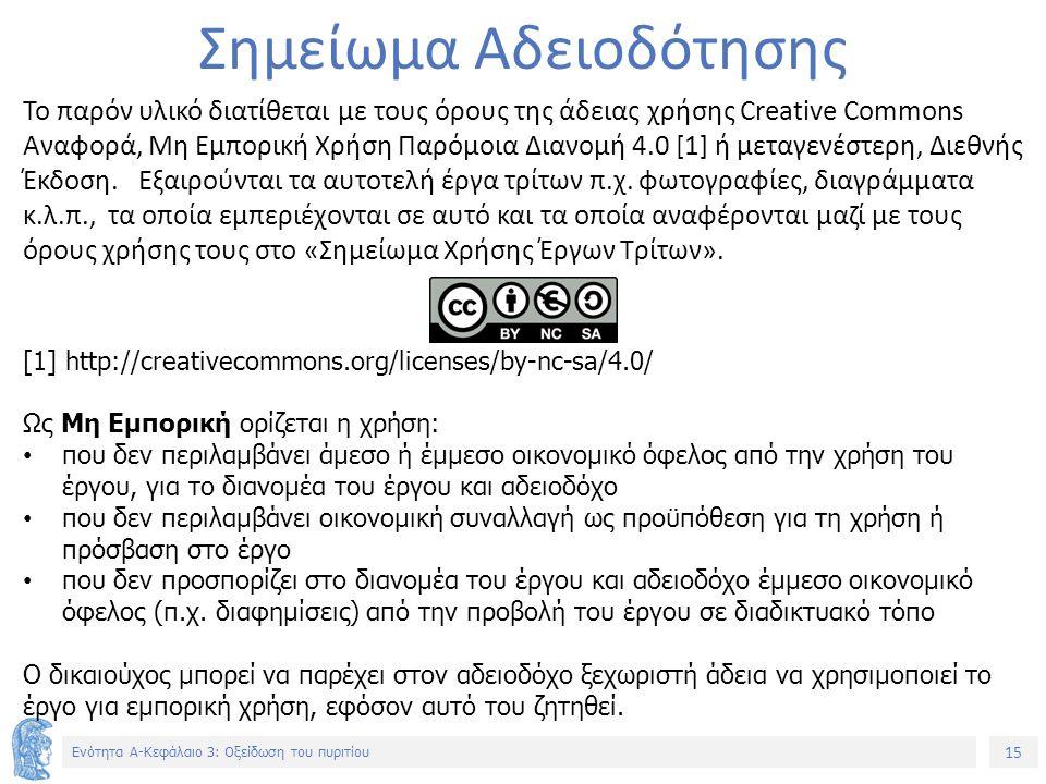 15 Ενότητα Α-Κεφάλαιο 3: Οξείδωση του πυριτίου Σημείωμα Αδειοδότησης Το παρόν υλικό διατίθεται με τους όρους της άδειας χρήσης Creative Commons Αναφορά, Μη Εμπορική Χρήση Παρόμοια Διανομή 4.0 [1] ή μεταγενέστερη, Διεθνής Έκδοση.