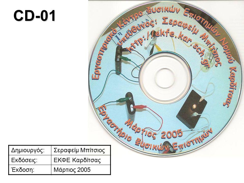 CD-01 Δημιουργός:Σεραφείμ Μπίτσιος Εκδόσεις:ΕΚΦΕ Καρδίτσας Έκδοση:Μάρτιος 2005