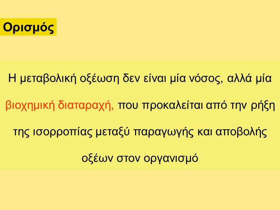Αντιρρόπηση μεταβολικής οξέωσης (αναμενόμενη PaCO 2 ) 1.