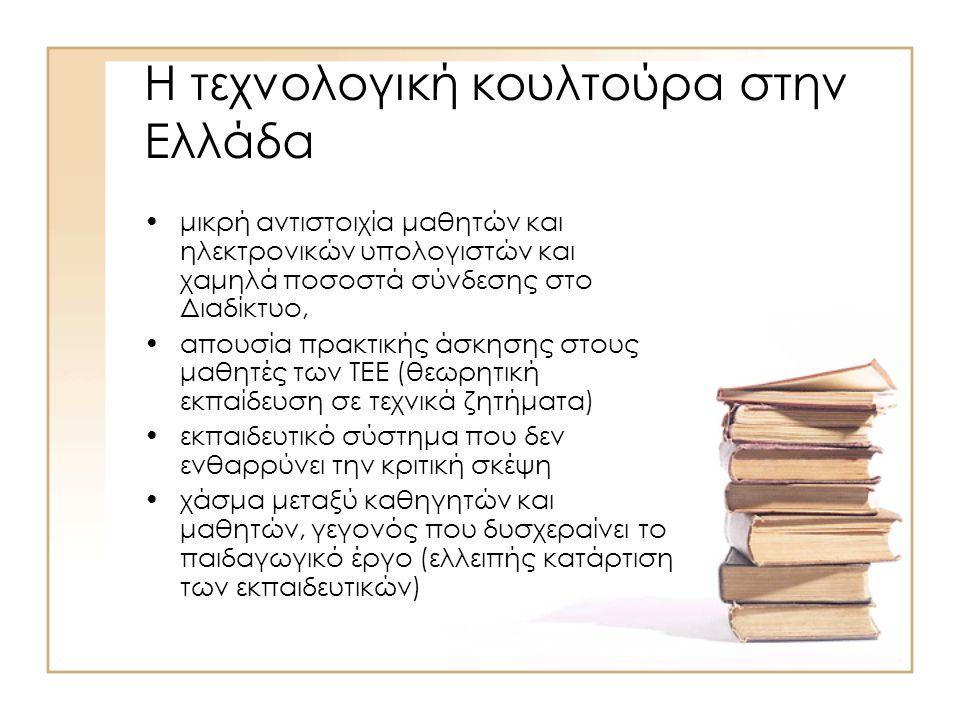 Ανάδειξη Νέων μεθοδολογικών εργαλείων Ε\Τ πολιτικής Τεχνολογική Στάθμιση, Αξιολόγηση, Αποτίμηση, Πρόβλεψη Δείκτες αποδοτικότητας Στατιστική παρακολούθηση επιστημονικής και τεχνολογικής παραγωγής ( Βιβλιομετρία, κατοχύρωση πατέντων κά.) Τεχνολογική Προοπτική Διερεύνηση