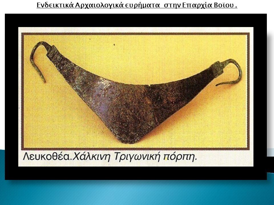 Ενδεικτικά Αρχαιολογικά ευρήματα στην Επαρχία Βοϊου.