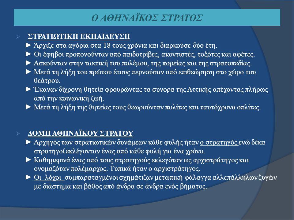 Ο ΟΡΚΟΣ ΤΩΝ ΑΘΗΝΑΙΩΝ ΕΦΗΒΩΝ  Η ΤΕΛΕΤΗ ► Δινόταν με την ενηλικίωση των Αθηναίων εφήβων σε επίσημη τελετή της Εκκλησίας του δήμου (Πνύκα).