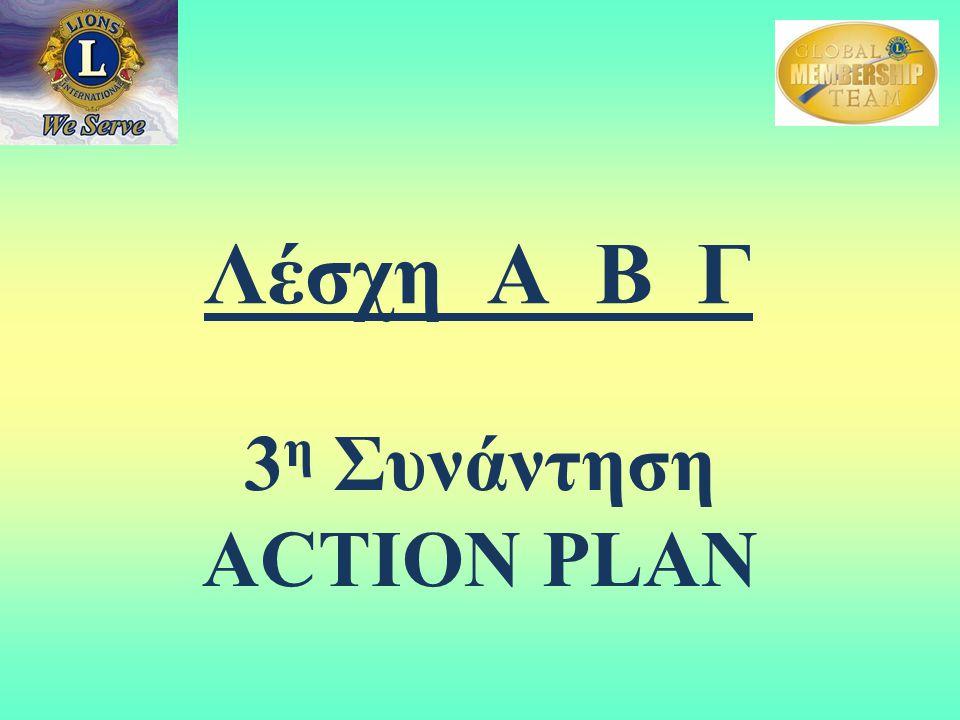 Λέσχη Α Β Γ 3 η Συνάντηση ACTION PLAN