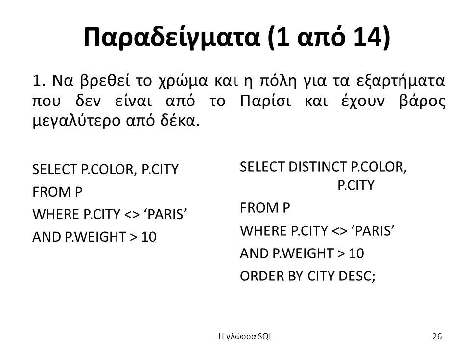 Παραδείγματα (1 από 14) 1.