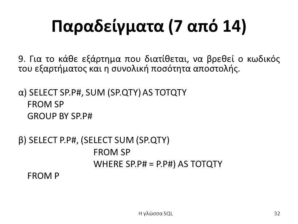 Παραδείγματα (7 από 14) 9.