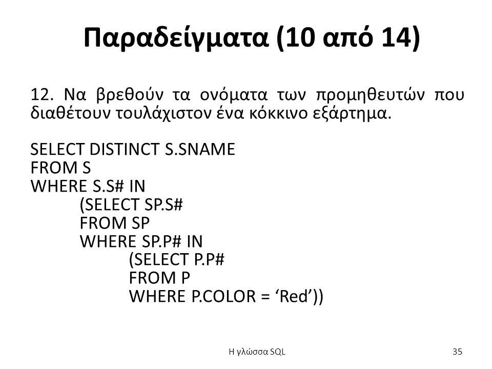 Παραδείγματα (10 από 14) 12.